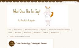 Mama the Fox Blog - Review of Color Garden's all natural egg coloring kit
